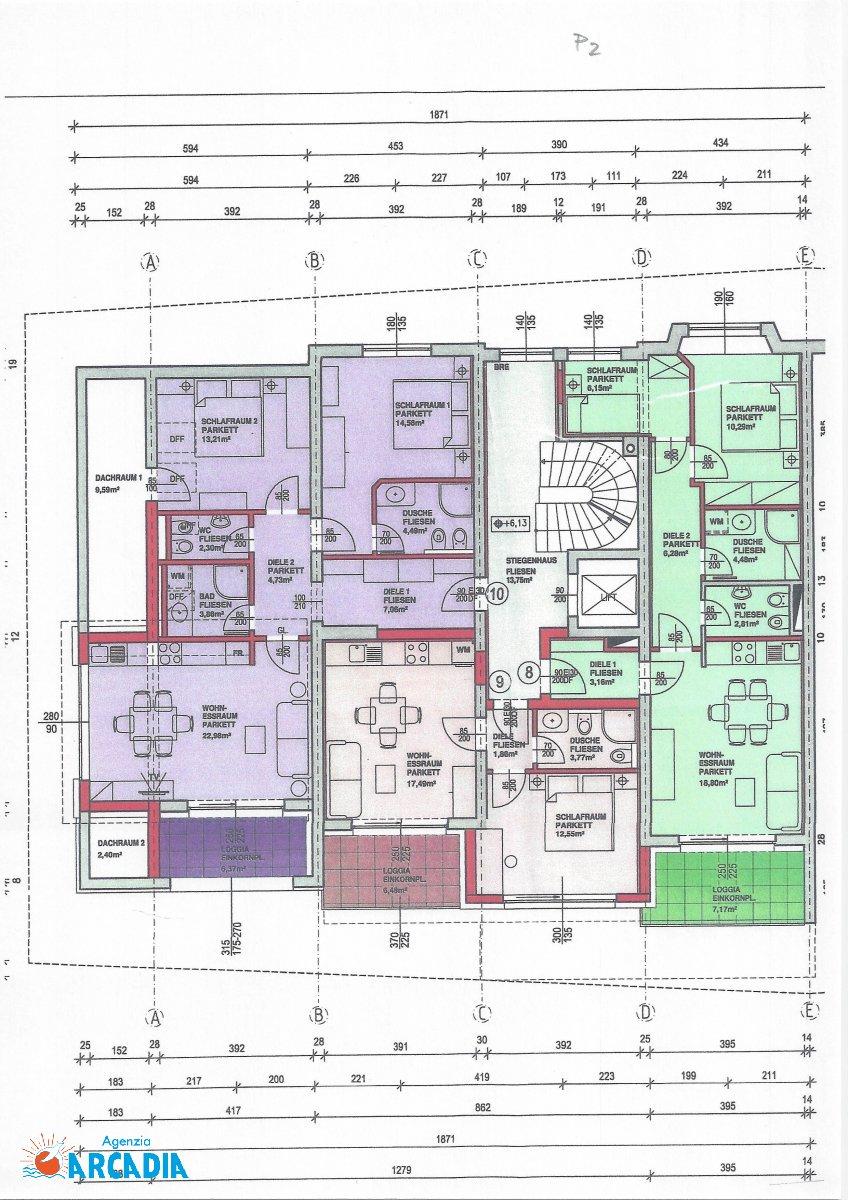 Agenzia arcadia compra vendita badkleinkirchheim for Planimetrie seminterrato
